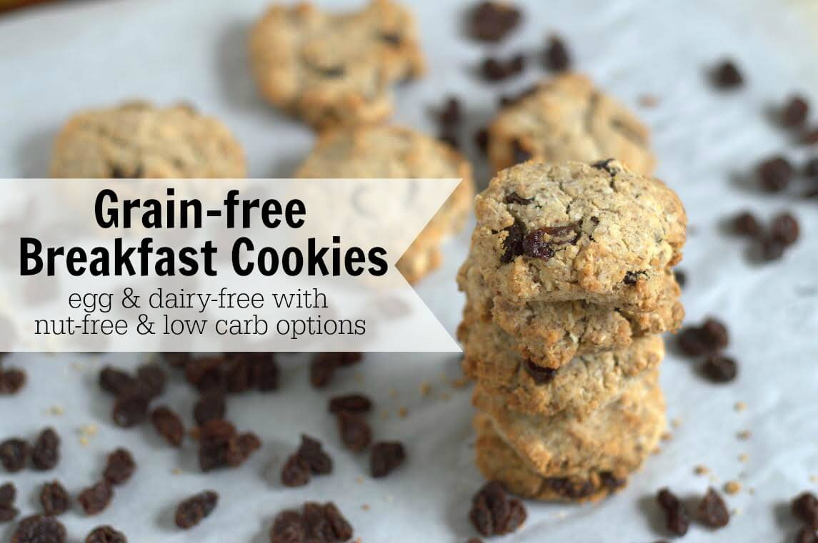 Paleo Cinnamon Raisin Breakfast Cookies