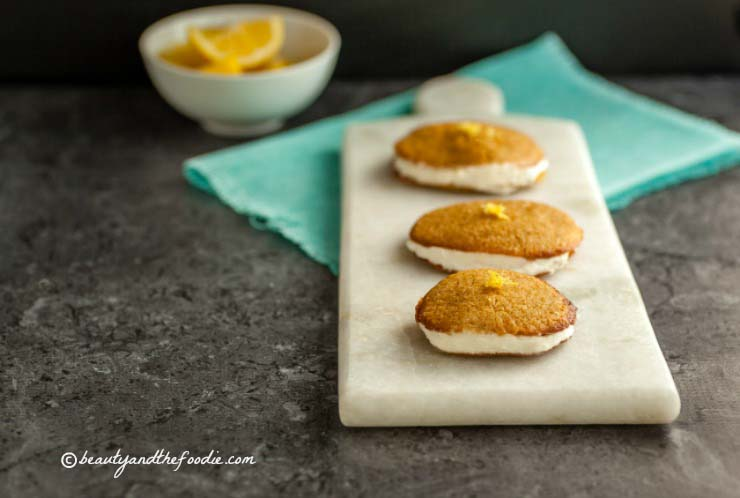 Paleo Lemon Cream Sandwich Cookies