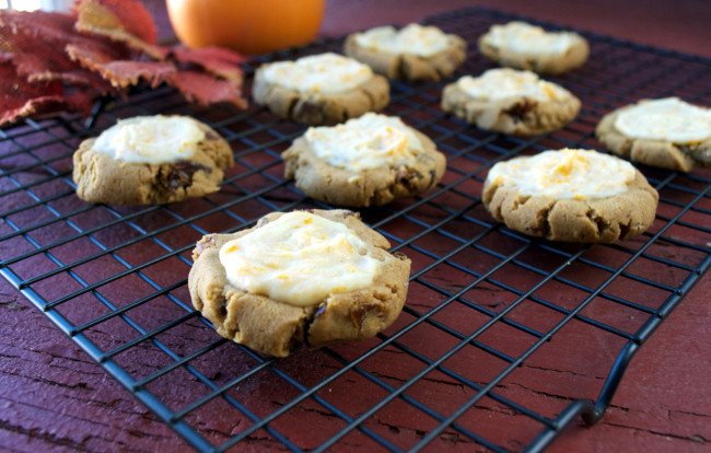 Paleo Pumpkin Cookies with Orange Glaze